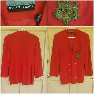 Vintage Ellen Tracy Double Breasted Blazer